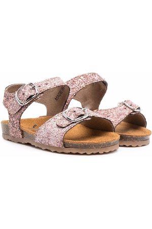 PèPè Glitter buckle-fastening sandals