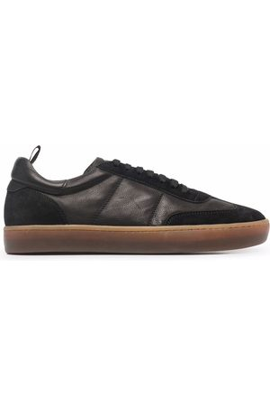 Officine creative Combined leather trainers