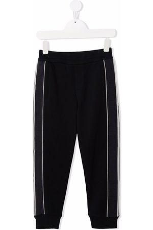 Emporio Armani Joggingbroeken - Side-stripe cotton-blend track pants