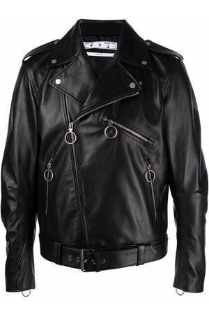 OFF-WHITE Graphic-print biker jacket