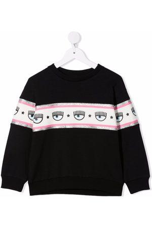 Chiara Ferragni Meisjes Sweaters - Logomania-tape cotton sweatshirt