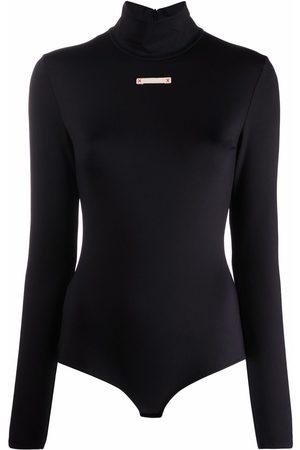 Maison Margiela Funnel-neck fitted bodysuit