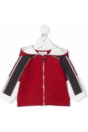 Emporio Armani Kids Zip-up hooded track jacket