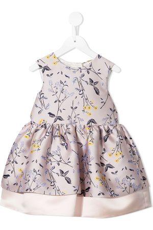 HUCKLEBONES LONDON Floral jacquard mini dress