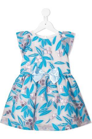 HUCKLEBONES LONDON Meisjes Feestjurken - Embroidered organza mini dress