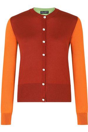 Dolce & Gabbana Colour-block silk cardigan