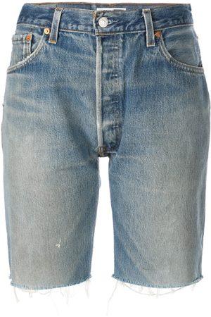RE/DONE Knee length denim shorts