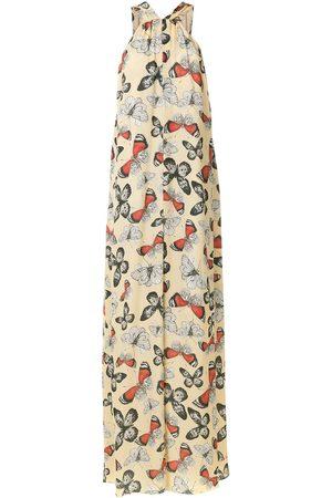 Olympiah Printed Durban long dress