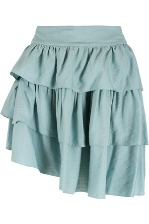 Olympiah Cape ruffled skirt