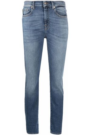 7 for all Mankind High-rise cropped jeans