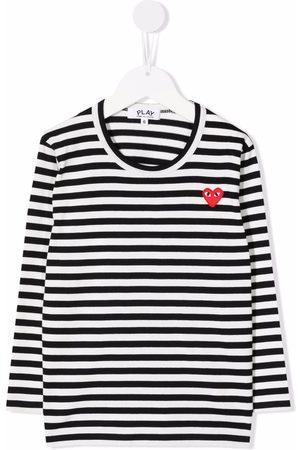 Comme des Garçons Jongens T-shirts - Striped long-sleeved T-shirt