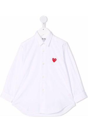 Comme des Garçons Heart-detail button-up shirt