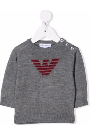 Emporio Armani Jacquard-logo sweater