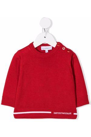 Emporio Armani Logo-print hem sweater