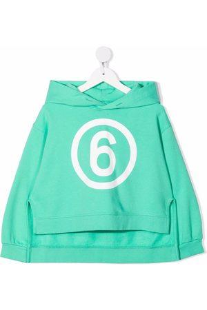 MM6 KIDS Meisjes Hoodies - Asymmetric logo-print hoodie