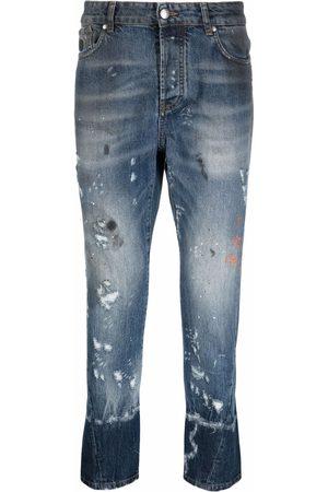 John Richmond Faded distressed jeans