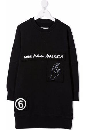 MM6 KIDS Meisjes Casual jurken - Logo-tape midi sweater dress