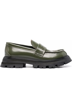 Alexander McQueen Ridged-sole loafers