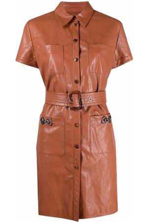 Pinko Belted short-sleeve shirtdress
