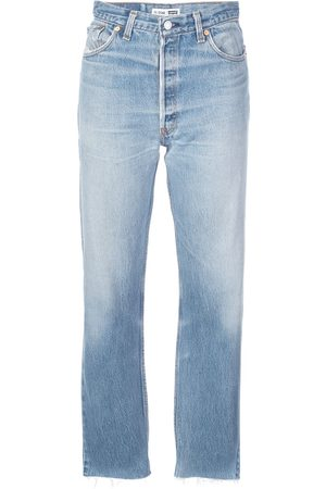 RE/DONE Dames Slim - Slim faded jeans