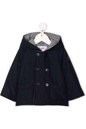 Il gufo Double-breasted hooded jacket