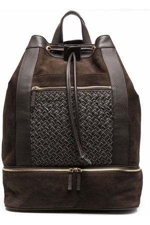ELEVENTY Panelled leather backpack