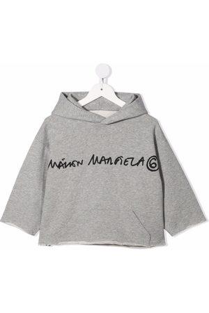 MM6 KIDS Meisjes Hoodies - Logo-print cropped fleece hoodie