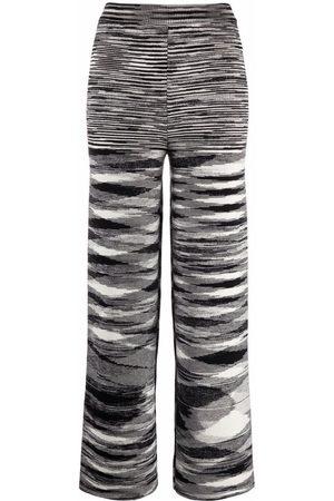 Missoni Dames Broeken - Zigzag knitted straight-leg trousers