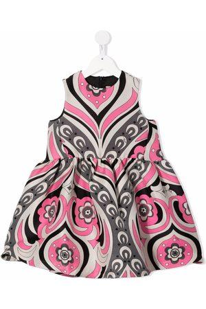 Emilio Pucci Meisjes Casual jurken - Floral-print sleeveless dress