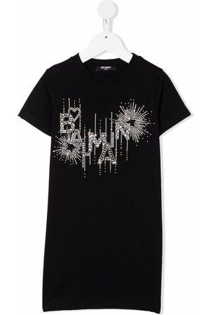 Balmain Glitter-detail short-sleeved T-shirt dress