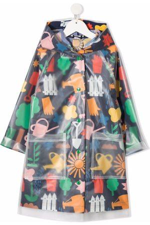 Stella McCartney Meisjes Parka's - Gardening-print parka coat