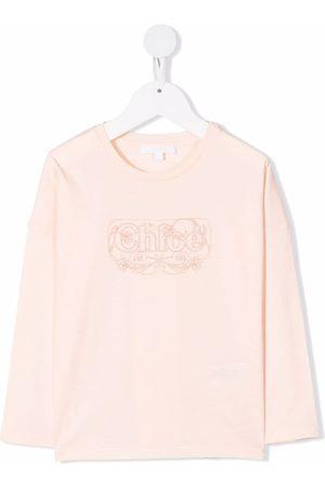 Chloé Meisjes Lange mouw - Long-sleeved logo T-shirt