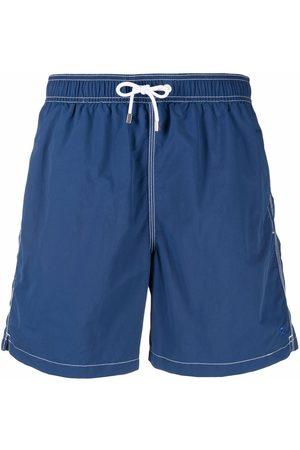 Hackett Logo-patch flap-pocket swim shorts