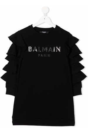 Balmain Logo-print sweater dress
