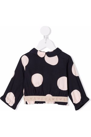 Emporio Armani Baby Blouses - Spotted logo-tape blouse