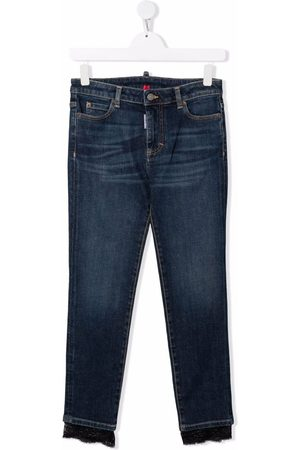 Dsquared2 TEEN mid-rise slim-fit jeans