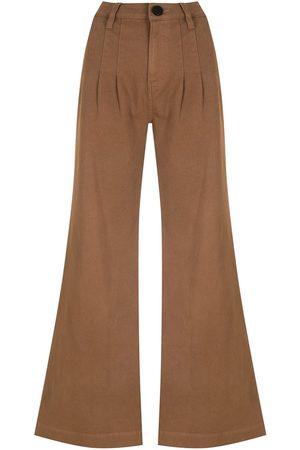 Andrea Bogosian Dames Wijde broeken - Pockets flared trousers