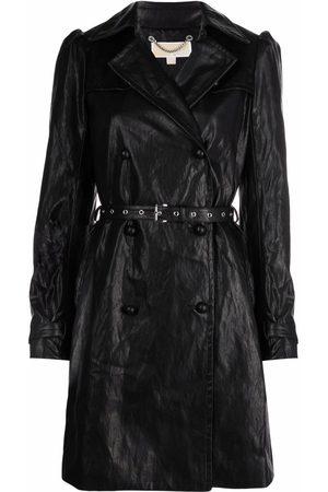 Michael Kors Dames Leren jassen - Faux-leather puff-sleeve coat