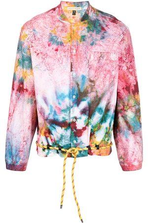 ROMEO HUNTE Tie-dye drawstring shirt