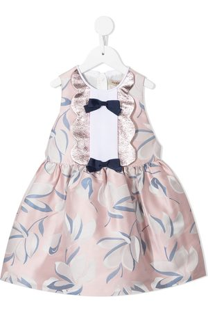 HUCKLEBONES LONDON Bow-detail floral jacquard mini dress