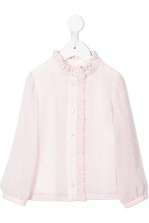 HUCKLEBONES LONDON Ruffle-detail long-sleeve blouse