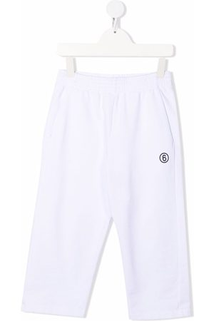 MM6 KIDS Logo-print track pants