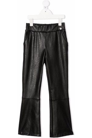 MONNALISA Meisjes Wijde broeken - Faux-leather flared trousers