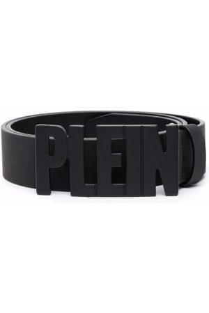 Philipp Plein Heren Riemen - Plein lettering logo leather belt