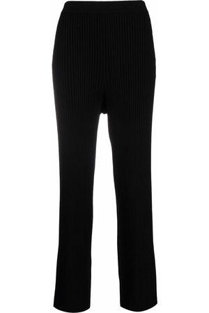 Filippa K Rib-knit flared trousers