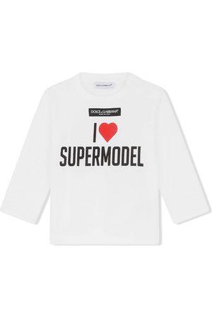Dolce & Gabbana Long-sleeve cotton T-shirt