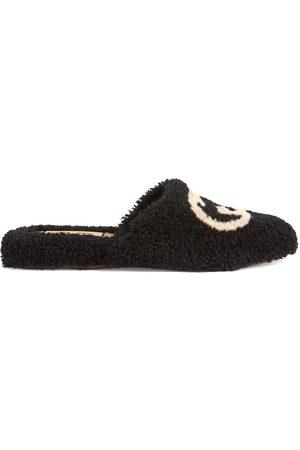 Gucci Dames Slippers - Interlocking G merino slippers