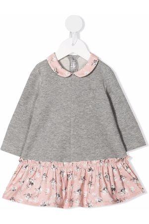 Il gufo Sweatshirt-ruffled dress