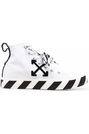 OFF-WHITE MID TOP VULCANIZED CANVAS BLACK