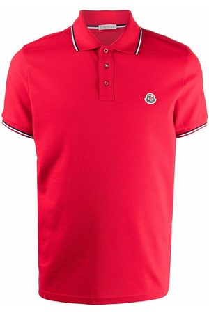 Moncler Heren Poloshirts - Logo patch polo shirt